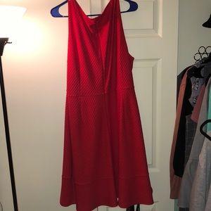LOFT Dresses - NWT Loft Textured Red Dress
